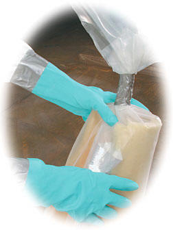 vertical glovebags